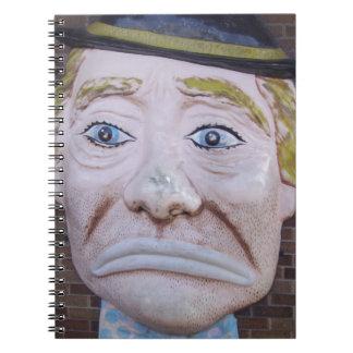 Kiddieland Sad Clown Notebook