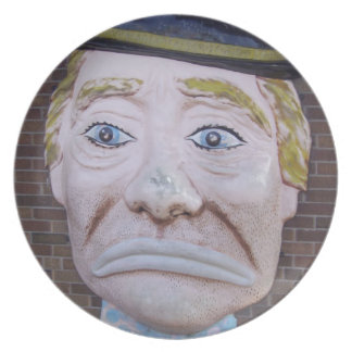 Kiddieland Sad Clown Dinner Plates