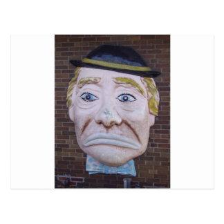 Kiddieland Sad Clown Postcard