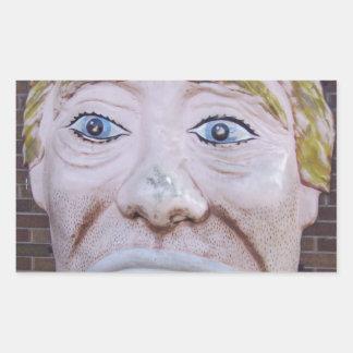 Kiddieland Sad Clown Rectangular Sticker
