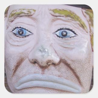 Kiddieland Sad Clown Square Sticker