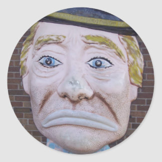 Kiddieland Sad Clown Classic Round Sticker