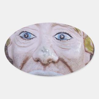 Kiddieland Sad Clown Oval Sticker