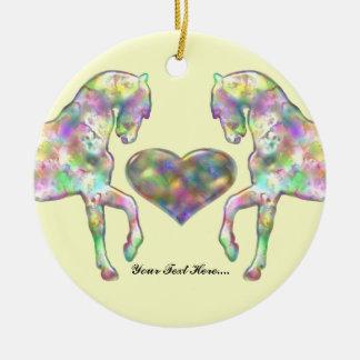 Kiddies Horse and Love Heart Ceramic Ornament