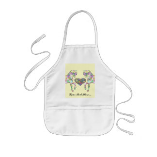 Kiddies Horse and Love Heart Kids' Apron