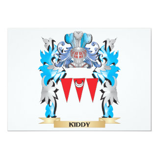 Kiddy Coat of Arms - Family Crest 5x7 Paper Invitation Card