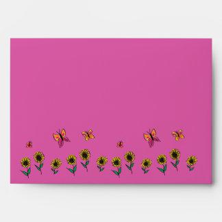 Kiddy doodle sunflower deco envelope