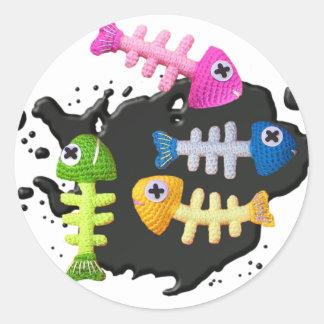 KIDFISHYlarge Round Sticker