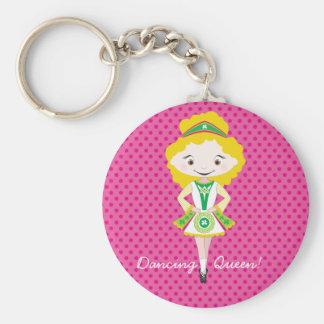 KIDLETS:: blonde irlandés del bailarín Llavero Personalizado