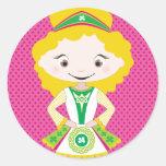 KIDLETS:: blonde irlandés del bailarín Etiqueta Redonda