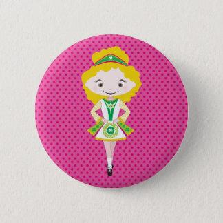 KIDLETS :: irish dancer blonde Pinback Button