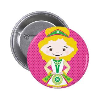KIDLETS :: irish dancer blonde Pinback Buttons