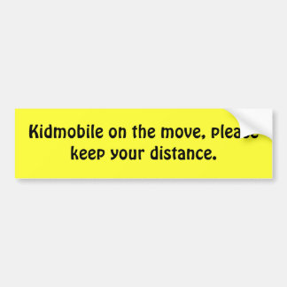 Kidmobile en el movimiento, guarda por favor su di pegatina para auto