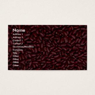 Kidney beans business card