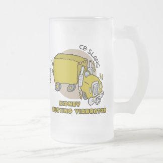 Kidney Busting Viabrator Frosted Glass Mug