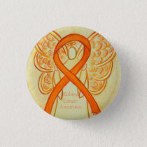 Kidney Cancer Angel Awareness Ribbon Custom Pin