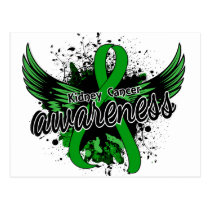 Kidney Cancer Awareness 16 (Green) Postcard