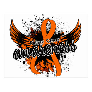 Kidney Cancer Ribbon Postcards No Minimum Quantity Zazzle