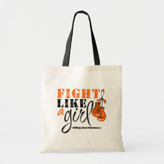 Kidney Cancer Awareness 2 Fight Like a Girl Budget Tote Bag