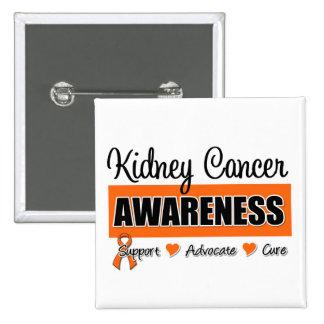 Kidney Cancer Awareness Badge Buttons