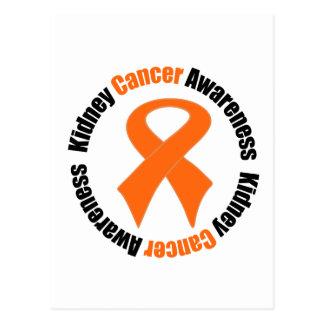 Kidney Cancer Awareness Circular Ribbon Postcard