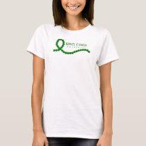 Kidney Cancer Awareness Green Ribbon Beads T-Shirt