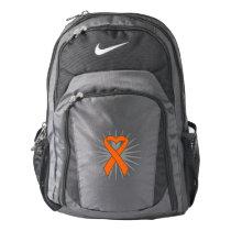 Kidney Cancer Awareness Heart Ribbon v2 Nike Backpack