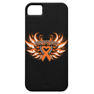 Kidney Cancer Awareness Heart Wings 2 iPhone SE/5/5s Case