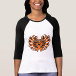 Kidney Cancer Awareness Heart Wings 2.png T Shirt