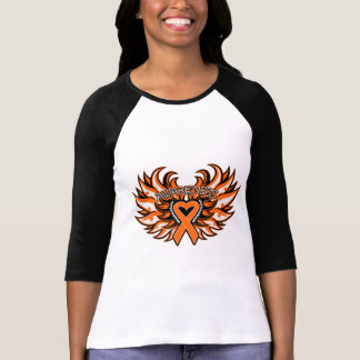 Kidney Cancer Awareness Heart Wings 2.png Tees