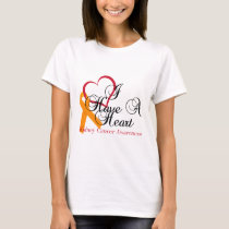 Kidney Cancer Awareness I Have A Heart T-Shirt