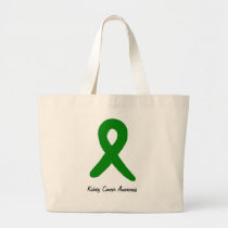 Kidney Cancer Awareness Large Tote Bag