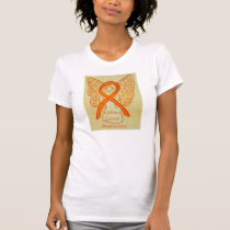Kidney Cancer Awareness Ribbon Angel Custom Shirt