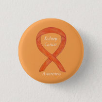 Kidney Cancer Awareness Ribbon Custom Pin
