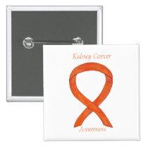 Kidney Cancer Awareness Ribbon Custom Pin