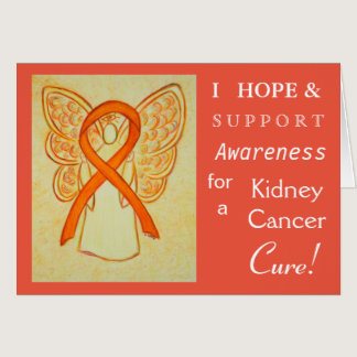 Kidney Cancer Awareness Ribbon Greeting Card