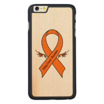 Kidney Cancer Awareness Ribbon with Wings Carved Maple iPhone 6 Plus Slim Case