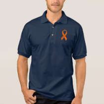 Kidney Cancer Awareness Ribbon with Wings Polo Shirt