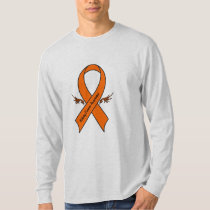 Kidney Cancer Awareness Ribbon with Wings T-Shirt
