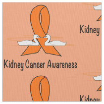 Kidney Cancer Awareness Swans Fabric