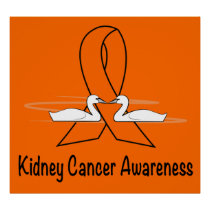Kidney Cancer Awareness Swans Poster