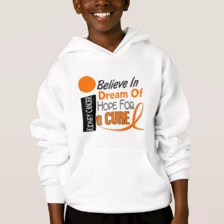 Kidney Cancer BELIEVE DREAM HOPE (Orange Ribbon) Hoodie