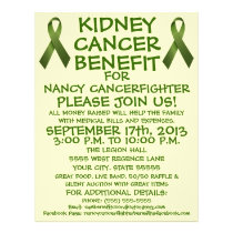 Kidney Cancer Benefit Cartoon Flyer