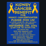 """Kidney Cancer Benefit Flyer<br><div class=""""desc"""">This beautiful kidney cancer benefit flyer is perfect for advertising a kidney cancer benefit and auction once you personalize with all your own benefit details in the provided boxes.</div>"""