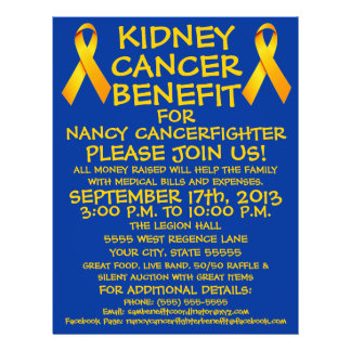 Kidney Cancer Benefit Flyer