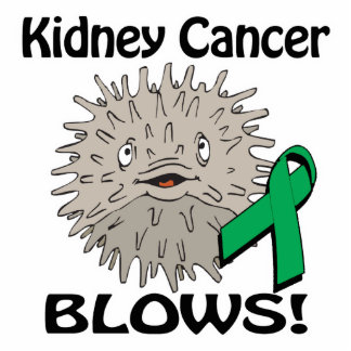 Kidney Cancer Blows Awareness Design Photo Cut Out
