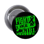 Kidney Cancer BurnOut Fight Like a Girl Button