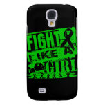 Kidney Cancer BurnOut Fight Like a Girl Samsung Galaxy S4 Cover