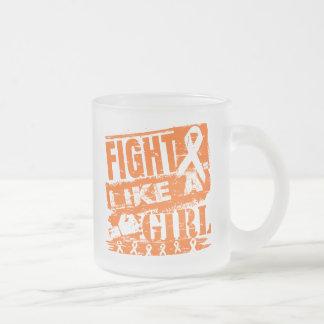 Kidney Cancer BurnOut Fight Like a Girl Coffee Mug