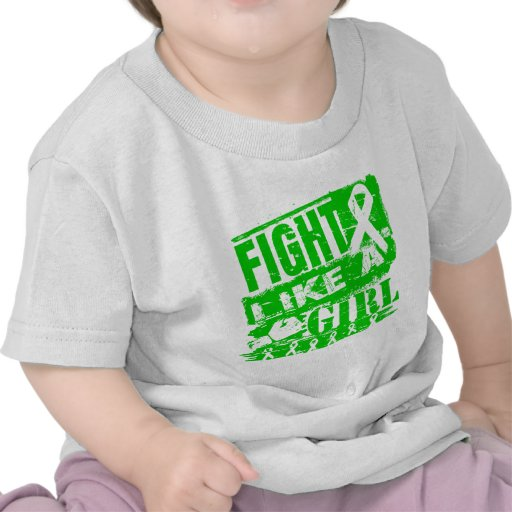 Kidney Cancer BurnOut Fight Like a Girl Tshirt